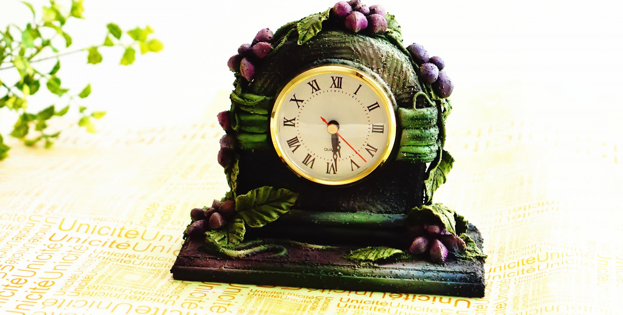 Clock Display Clay art project