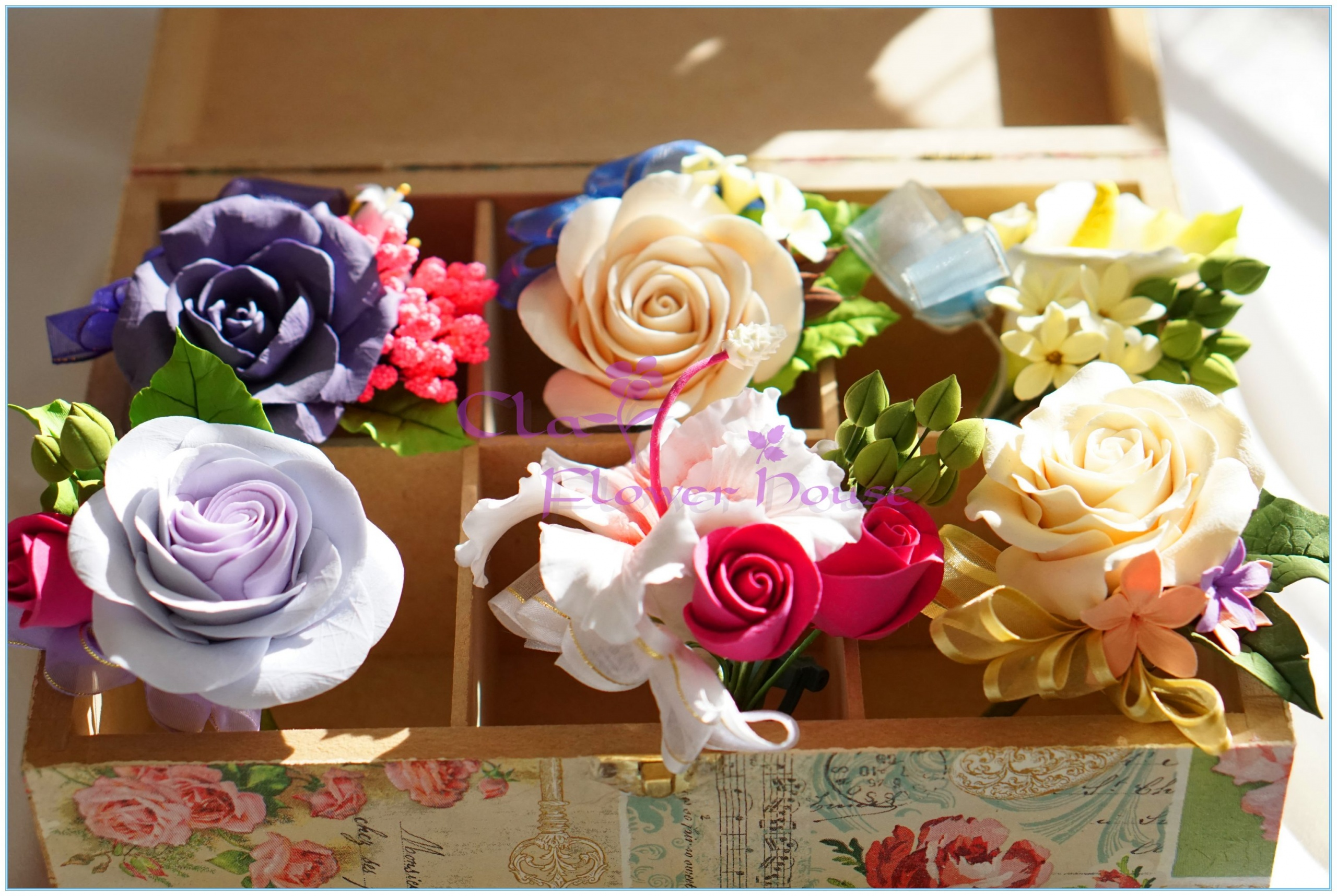 Clay Corsage Boutonnieres