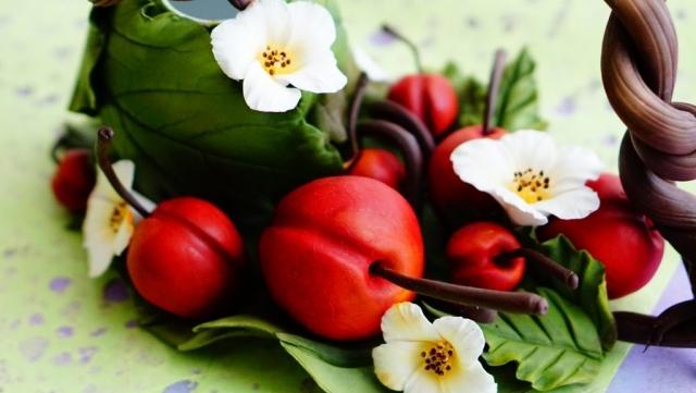 Home-decor cherry clay art